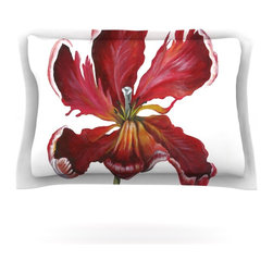"""Kess InHouse - Lydia Martin """"Open Tulip"""" Pillow Sham (Woven, 40"""" x 20"""") - Pairing your already chic duvet cover with playful pillow shams is the perfect way to tie your bedroom together. There are endless possibilities to feed your artistic palette with these imaginative pillow shams. It will looks so elegant you won't want ruin the masterpiece you have created when you go to bed. Not only are these pillow shams nice to look at they are also made from a high quality cotton blend. They are so soft that they will elevate your sleep up to level that is beyond Cloud 9. We always print our goods with the highest quality printing process in order to maintain the integrity of the art that you are adeptly displaying. This means that you won't have to worry about your art fading or your sham loosing it's freshness."""