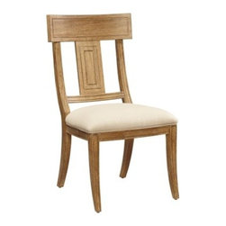 A.R.T. Furniture Ventura Splat Back Side Chair - Weathered Chestnut - Set of 2 - Down-to-earth rustic comfort and modern coastal style combine in the A.R.T. Furniture Ventura Splat Back Side Chair – Weathered Chestnut – Set of 2. The splat back and cutouts emphasize the signature geometric motif of this elegant contemporary collection, which is crafted from radiata hardwood solids and New Zealand Pine veneers with a hand-weathered chestnut finish.About A.R.T. FurnitureFounded in 2003, A.R.T. Furniture creates beautiful, high-quality furniture inspired by architecture and design. Their sophisticated aesthetic draws upon the best of traditional European furniture designs, as well as rustic, coastal, and transitional styles. A.R.T. Furniture is known for its themed collections that reinvent classic forms for the needs of contemporary home decorators. Their dining room, bedroom, entertainment, and living room furnishings are constructed from sustainably forested hardwoods and veneers. A.R.T. Furniture is distinguished by its superior craftsmanship and attention to detail, taking the extra step in the manufacturing process to ensure quality, beauty, and durability for its customers.
