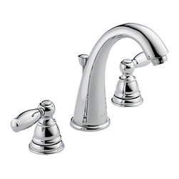 """Peerless - Peerless P299196LF Two Handle Lavatory Faucet - This 2 handle widespread faucet features a fully replaceable washerless valve design, a 3-hole mounting designed for 8"""" centers, interchangeable valve stems, and a max flow rate of 1.5 GPM."""