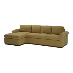 Lazar Industries - Eclipse Sectional:  Chaise and Adjacent 3-Seater Sleeper Sofa in Covergirl Sand - Eclipse Sectional:  Chaise and Adjacent 3-Seater Sleeper Sofa by Lazar Industries offers a compact rolled arm for traditional zeal on a fashion-forward frame.