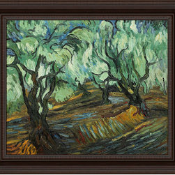 overstockArt.com - Van Gogh - Olive Tree Oil Painting - Hand painted oil reproduction of a famous Van Gogh painting, Olive Tree. Today it has been carefully recreated detail-by-detail, color-by-color to near perfection. Vincent Van Gogh's restless spirit and depressive mental state fired his artistic work with great joy and, sadly, equally great despair. Known as a prolific Post-Impressionist, he produced many paintings that were heavily biographical. This work of art has the same emotions and beauty as the original. Why not grace your home with this reproduced masterpiece? It is sure to bring many admirers!
