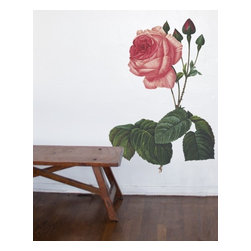Design Your Wall - Rose - Vintage Wall Decal - Flowers wilt, but this vintage-style Rose decal will last forever!
