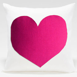 Pink Heart Pillow by Sukan - This pillow might be Valentine's Day–inspired, but I'd keep it out year-round. It's perfect for a girly office or a little girl's bedroom.
