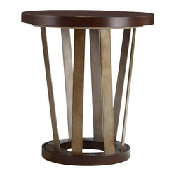 Hooker Furniture - Hooker Furniture Lorimer Round End Table in Warm Brown - Hooker Furniture - End Tables - 506580116 - Lorimer Collection: