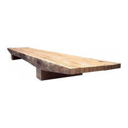Caju Coffee Table by Carlos Motta - This low coffee table is a perfect rustic chic element to add to your room. It can take a beating and look better because of it! Furthermore, you can feel good about buying it because it's made from repurposed wood.