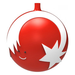 "Alessi - Alessi ""Stella Cometa"" Christmas Bauble - You'll light up when you see this heavenly ornament, with its representation of the Christmas Star, shooting around the globe. It also features an adorable little face, as it too beams brightly in excitement for the Holidays."