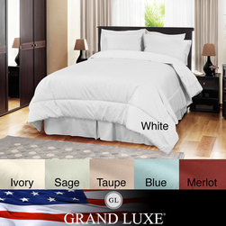 Veratex - Grand Luxe Egyptian Cotton Sateen 500 Thread Count 4-piece Comforter Set - Turn your bed into a luxurious and comfortable sanctuary with this four-piece comforter set. It comes in six different colors to suit your decor, and its high thread-count and 100 percent Egyptian cotton ensure you'll get a restful night's sleep.