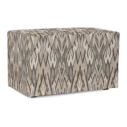Howard Elliott - Ikat Universal Bench Cover - Does your Universal Bench need an update? Do so by simply getting a new cover. Velcro fasteners and tailored design make it so you would never know this piece is slipcovered. Cleaning and updating is a breeze, change your look on a whim with new covers!