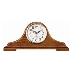 Infinity Instruments - Infinity Instruments Oak Tambour Clock with Chime - 620-OAK - Shop for Clocks from Hayneedle.com! The Infinity Instruments Oak Tambour Clock with Chime is framed in solid wood and features a classic tambour style to bring character to your living room. It also features a delightful chime. Dimensions: 16.25W x 3.5D x 7.5H inches. About Infinity InstrumentsWhen you need a clock for your home Infinity Instruments offers infinite possibilities of high style at great prices. Located in La Crosse Wisc. Infinity manufactures a huge selection of decorative clocks for both indoor and outdoor use. You can find clocks designed to make a bold statement in today's larger-scale living areas as well as clocks that tuck easily onto a shelf desk or table. Infinity clock faces range from 10 to 38 inches and come in a dazzling array of traditional contemporary retro and thematic styles even handmade glass clocks from Italy. Infinity excels at creative use of materials such as resin wood wicker and metal to make it easy to add color and vibrant personal style to your living space. An Infinity clock is more than just an accessory; it's a piece of art that you use every day.