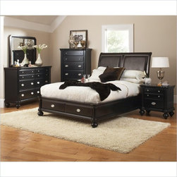 Coaster - Coaster Foxhill 5 Piece Bedroom Set in Deep Brown Finish - Coaster - Bedroom Sets - 201581XPKG3 - Coaster Foxhill Storage Platform Bed in Deep Brown Finish (included quantity: 1) Add an exquisite statement to your bedroom with this traditional queen bed. It features classic bracket feet and ornate molding. The piece has been finished in a lovely deep brown for a romantic look. Available in queen, California king, and king sizes.