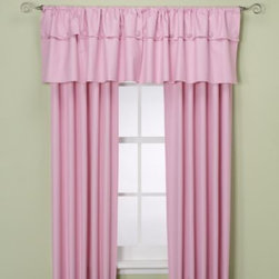 Supreme Blackout - Orlando Kid Window Curtain Panel in Pink - These beautiful rod pocket window curtain panels are both decorative and quite useful as they are insulated with a durable thermal foam backing that provides energy-saving insulation, room-darkening qualities and noise-reduction.