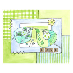 Oh How Cute Kids by Serena Bowman - Love, Ready To Hang Canvas Kid's Wall Decor, 8 X 10 - Each kid is unique in his/her own way, so why shouldn't their wall decor be as well! With our extensive selection of canvas wall art for kids, from princesses to spaceships, from cowboys to traveling girls, we'll help you find that perfect piece for your special one.  Or you can fill the entire room with our imaginative art; every canvas is part of a coordinated series, an easy way to provide a complete and unified look for any room.