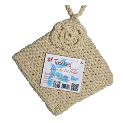 Toockies - Toockies Square Joy Pot Holder - This Toockies Square Joy Pot Holder adds style to your kitchen when hung upon a wall and protects you from burns when it's time to remove hot pots and pans from the stove or oven. The double,knit pot holder is woven entirely by hand from 100 percent cotton.