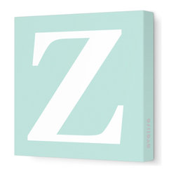 "Avalisa - Letter - Upper Case 'Z' Stretched Wall Art, 28"" x 28"", Sea Green - Spell it out loud. These uppercase letters on stretched canvas would look wonderful in a nursery touting your little one's name, but don't stop there; they could work most anywhere in the home you'd like to add some playful text to the walls. Mix and match colors for a truly fun feel or stick to one color for a more uniform look."