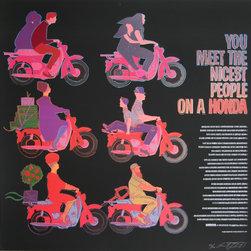 Rupert Jasen Smith, Honda Motorcycles, Screenprint - Artist:  Rupert Jasen Smith, American (1953 - 1989)