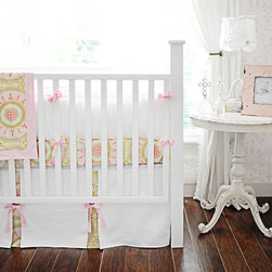 New Arrivals Inc. - Heart of Gold Crib Bedding Set - Heart of Gold Crib Bedding Set