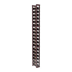 1 Column Standard Cellar Kit in Pine with Burgundy Stain + Satin Finish - This single column of bottle storage is a perfect fit almost everywhere. The narrow format ensures you can squeeze the maximum storage capacity from any cellar layout. We construct every rack to our industry-leading standards.