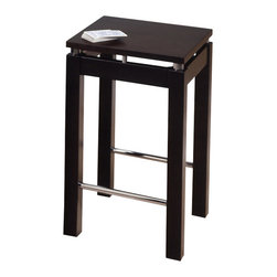 Winsome Wood - Winsome Wood Linea 23 Inch Stool w/ Chrome Accent - 23 Inch Stool w/ Chrome Accent belongs to Linea Collection by Winsome Wood With its broad square seat and sleek design, the Linea barstool adds a modern touch to any kitchen. Dark Espresso Finish with Chrome Accent. Stool (1)