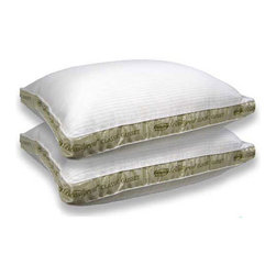 Simmons Beautyrest - Beautyrest Pima Cotton 300 Thread Count Firm Support Pillow (Set of 2) - Sleep experts recommend changing your pillows every few years. This pair of 100 percent pima cotton firm standard-size pillows is a great way to refresh your bed and your sleep,with 300-thread count shells and unique stain-release fiber.