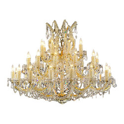Alan Mizrahi - AM4800 Maria Teresa Crystal Jewel, Gold, 40W x 36H - By keeping current with the latest trends in interior design, we strive to carry products that will be the focus of your place of business or home's decor, and always with superior selection, value, and quality. We understand our customers want their commercial or residential project to be a unique reflection of their personal style, and a place of comfort and inspiration to them and their families, friends, or clients. That is why we give every effort to provide all the resources you need because attention to detail is important to Alan Mizrahi as it is to you.