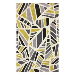 """nuLOOM - Contemporary 7' 6"""" x 9' 6"""" Chartreuse Hand Tufted Area Rug BC43 - Made from the finest materials in the world and with the uttermost care, our rugs are a great addition to your home."""