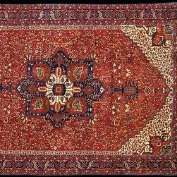14×20 NORTHWEST PERSIAN RUG - Large Northwest Persian Karadja oversized rug 13'7″ x 19'10″.
