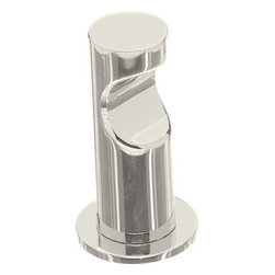 "Top Knobs - Hopewell Bath Single Hook - Polished Nickel - Length - 1 1/2"",Projection - 2 7/8"",Base Diameter - 1 1/2"" w (x) 1 1/2"" h,"
