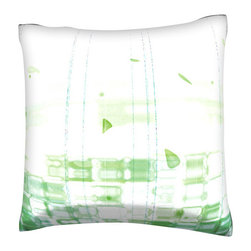 Custom Photo Factory - Abstract Fluid and Vertical Pattern Pillow.  Polyester Velour Throw Pillow - Abstract Fluid and Vertical Pattern Pillow. 18 Inches x 18  Inches.  Made in Los Angeles, CA, Set includes: One (1) pillow. Pattern: Full color dye sublimation art print. Cover closure: Concealed zipper. Cover materials: 100-percent polyester velour. Fill materials: Non-allergenic 100-percent polyester. Pillow shape: Square. Dimensions: 18.45 inches wide x 18.45 inches long. Care instructions: Machine washable