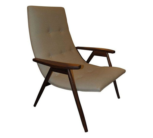 Pre-owned Alan Gould Eggshell Chair for Thayer Coggin - New reissue Alan Gould Eggshell chair for Thayer Coggin. Done in a beautiful Sunbrealla cream fabric. A quintessentially Mid-Century pick!