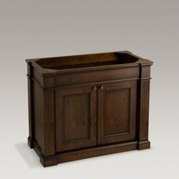 """KOHLER - KOHLER Thistledown(R) 42"""" vanity - The Thistledown vanity lends an heirloom quality to your bath or powder room with its knotty pine wood construction and striking details. The double doors are slow-closing to prevent slamming. The rich, moisture-resistant finish will keep your vanity look"""