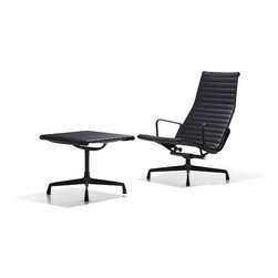 Herman Miller � - Eames Aluminum Group Chair - Introduced in 1958 as a special project by Ray Eames for a private residence being designed by Eero Saarinen and Alexander Girard, the Eames Aluminum Group originally was specified as ''leisure furniture.'' Now used in various locations, their classic lines and comfortable suspension have kept them in demand for numerous years and spaces, from contemporary homes to elegant offices and hip startups. The Eames Aluminum Group Lounge Chair melds the classic style of the Aluminum Group with the luxurious comfort of a lounge chair, perfect for the office or home office. The Design: Aluminum Group chairs were originally developed in 1958 as a special project by Ray Eames for a private residence being designed by Eero Saarinen and Alexander Girard. At the time, the furniture was called the ''leisure group,'' or ''indoor-outdoor group'' since it was meant to address the lack of quality outdoor furniture on the market. The seat-back suspension was a major technical achievement and represented a departure from the concept of the chair as a solid shell. Wonderfully comfortable, the chairs became the basis for several other Eames designs, including the Soft Pad chairs. Features: -Environmentally Responsible.-Textiles are made from post-industrial/post-consumer recycled content or pure fabrics.-100% recyclable materials.-Knit-to-size fabrics minimize in fabric waste.-Quality Standards.-Fabrics perform to industry standards and pass all applicable testing.-Five criteria assure fabrics perform optimally.-Flame Resistance.-Ultra-Violet Light Resistance (fade resistance).-Physical Properties (resistance to pilling, seam slippage, and tearing).-Abrasion (ability to withstand surface wear).-Standard Swivel.-Why Buy From Us?.-The Eames Aluminum Group Lounge and Ottoman are offered as Specialty Order Items in order to accommodate complete customization..-Wayfair stand behind our on all Herman Miller products..-Wayfair also back a 12-Year. Sh