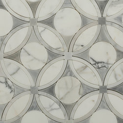 Sample-Highland Blossom Marble Tile Sample - Sample-Highland Blossom Marble Tile Sample   Samples are intended for color comparison purposes, not installation purposes.    -Glass Tiles -