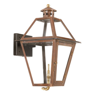 ARTISTIC - Elk Lighting Artistic 7929-WP Outdoor Gas Wall Lantern Grande Isle - Outdoor Gas Wall Lantern Grande Isle Collection In Solid Brass With AnAged CopperFinish.