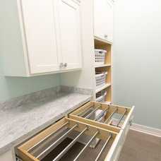 Transitional Laundry Room by Rautmann Custom Homes