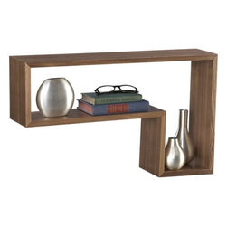 L Walnut Shelf - For those with a more modern sensibility, this L-shaped shelf becomes its own work of art. Put several together to truly make a statement in your home.