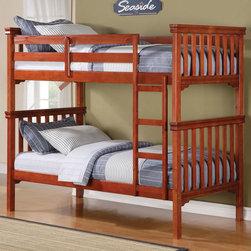 "Acme Furniture - Twin/Twin Bunk Bed in Cherry - Twin/Twin Bunk Bed in Cherry; Finish: Cherry; Dimensions: 80"" x 44"" x 69""H"