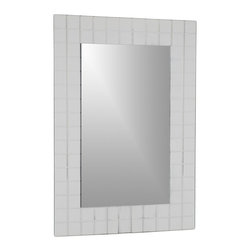 Decor Wonderland Mirrors - Decor Wonderland Mischa Modern Wall Mirror - The beauty of modern design is encompassed in the Mischa Modern Wall Mirror featuring hand etched grooves surrounding the mirror to create a mirror framed mirror look. Perfect commanding piece that decorates, enlarges and illuminates any room.