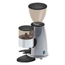 "Macap - Macap Doser Stepped Chrome Espresso Grinder - Stepped grinding regulation. Height-adjustable filterholder. Adjustable dose. Power: 150 watts. Flat grinding blade diameter: 50mm / 1.97""Measurements: 250 x 152 x h 382mm / 9.84 x 5.99 x 15.03 ""Coffee beans hopper capacity: 250 grams / 8.81-ounces. Ground coffee doser capacity: 180 grams / 6.35-ounces. Voltage: 110 volts, 60 hertz. Net weight: 5.2 kg / 11 lbs. . Made in Italy.."