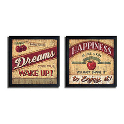 None - Brent McRae 'Dreams & Happiness' 2-piece Framed Canvas Set - Artist: Brent McRae Title: Dreams & Happiness Product Type: Framed canvas