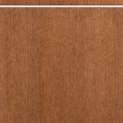 """Dura Supreme Cabinetry - Dura Supreme Cabinetry Moda Cabinet Door Style - Dura Supreme Cabinetry """"Moda - Vertical"""" (vertical grain) cabinet door style shown in Quarter-Sawn Red Oak with Dura Supreme's """"Mission"""" finish."""