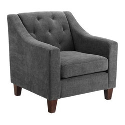 Tufted Chair, Gray - The lines of this chair are perfect and classic.