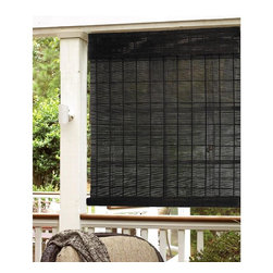 None - Espresso Natural Bamboo Indoor/ Outdoor Roll Up Shade - The natural insulation properties of this bamboo shade effectively blocks and traps heat. Roll up shades have a half size difference to allow inside mounts and the shade is easy to clean for your convenience.