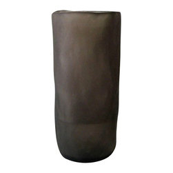 "Tina Frey Designs - Albert Vase, 5.5"" Dia x 12"", Grey - Designed by Tina Frey, part of the Tina Frey Designs Tina Frey Home Collection. Hand-finished. Water safe. Hand wash."