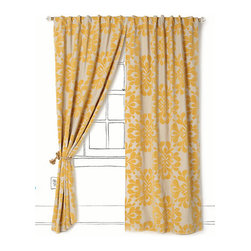 Coqo Floral Curtain - A touch of sunshine, don't you think? The pattern on these floral curtains is gorgeous. They would be beautiful in a pale gray guest room or even in a sweet nursery.