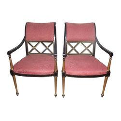 Dorothy Draper Regency Chairs - A Pair - $6,000 Est. Retail - $4,329 on Chairish -
