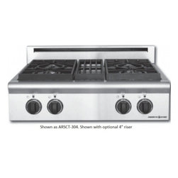 "American Range - Legend ARSCT304ISL 30"" 4 Sealed Liquid Propane Step-Up Burners Cooktop With Blue - The ARSCT304IS comes in both natural gas or liquid propane so you can pick which one you prefer The fail-safe reignition system works even on the lowest burner setting"