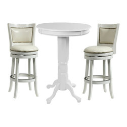 Boraam - Boraam Florence 3 Piece Pub Set in White - Boraam - Pub Sets - 7144242429PKG