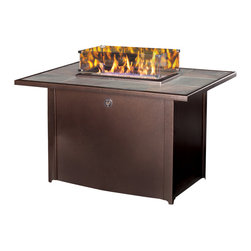 "Kozy Heat - 30"" Northern Firelights Patio LP Fireplace Table with Tile - Take the chill out of the autumn air or get an early taste of spring. With the simple push of a button, the Northern Firelights Patio Fireplace Table gives you more time to enjoy the warmth with family and friends. Designed exclusively for outdoor use, Northern Firelights brings a new dimension to your entertaining!"