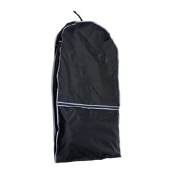 Florida Brands - Florida Brands Black Nylon Travel Coat Bag - Roomy front pockets for storing shoes and other accessories