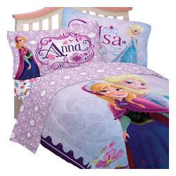 Franco Manufacturing Company INC - Disney Frozen Bedding Set, Anna and Elsa Celebrate Love - Features: